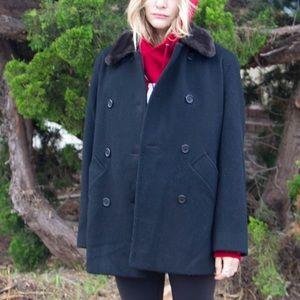 Isaac Mizrahi wool pea coat. Sz 8.